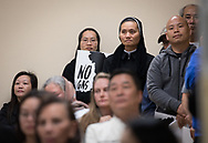 Opponents of Entergy's Natural Gas Power plant  n New Orleans  East Vietnamese community speak out at the Department of Environmental Quality air quality permit hearing for Entergy's  proposed natural gas plant in New Orleans East on March 6.