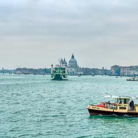 Cityscape of Venice from Riva Ca di Dio. High resolution panorama.