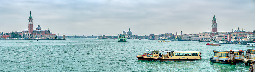 Cityscape of Venice from Riva Ca di Dio. High resolution panorama.
