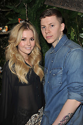 Rapper PROFESSOR GREEN and CANDY McCULLOCH at Mulberry's party following their fashion show as part of London Fashion Week Autumn Winter Collection 2011 held at Claridges, Brook Street, London on 20th February 2011.