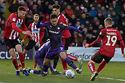 Kieron Morris (7) during the EFL Sky Bet League 1 match between Lincoln City and Tranmere Rovers at Sincil Bank, Lincoln, United Kingdom on 14 December 2019.