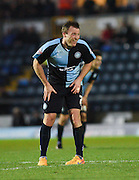 Wycombe midfielder Garry Thompson after scoring during the Sky Bet League 2 match between Wycombe Wanderers and Oxford United at Adams Park, High Wycombe, England on 19 December 2015. Photo by David Charbit.