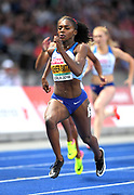 Dina Asher-Smith (GBR) wins the women's 200m in 21.89  in the European Championships in Berlin, Germany, Friday, August 11, 2018. (Jiro Mochizuki/Image of Sport)