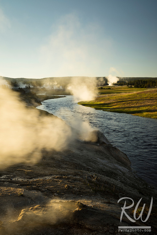 Firehole River at Sunrise, Yellowstone National Park, Wyoming