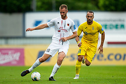 Klemen Nemanic of Tabor vs Predrag Sikimic of Domzale during football match between NK Domzale and NK CB24 Tabor Sezana in 31st Round of Prva liga Telekom Slovenije 2019/20, on July 3, 2020 in Sports park, Domzale, Slovenia. Photo by Vid Ponikvar / Sportida