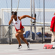 23 March 2018: Tyra Lea competes in the 400 meter dash on the final day of the 43rd annual Aztec Invitational.<br /> More game action at sdsuaztecphotos.com