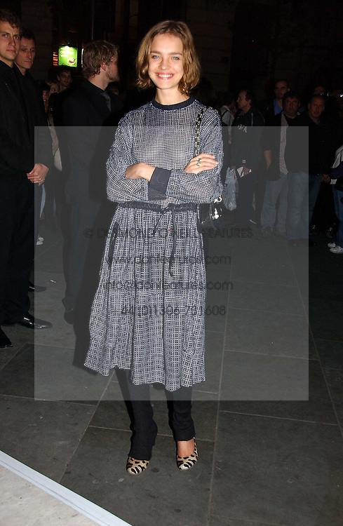 NATALIA VODIANOVA at an exhibition of David Hockney portraits at the National Portrait Gallery sponsored by Burberry on 11th October 2006.<br /><br />NON EXCLUSIVE - WORLD RIGHTS