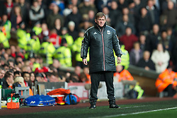 LIVERPOOL, ENGLAND - Saturday, January 28, 2012: Liverpool's manager Kenny Dalglish during the FA Cup 4th Round match against Manchester United at Anfield. (Pic by David Rawcliffe/Propaganda)