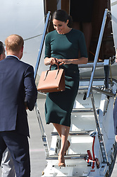 Meghan Markle, The Duchess of Sussex, arriving at Dublin Airport, Ireland. Picture date: Wednesday July 10th, 2018. Photo credit should read: Matt Crossick/ EMPICS Entertainment.