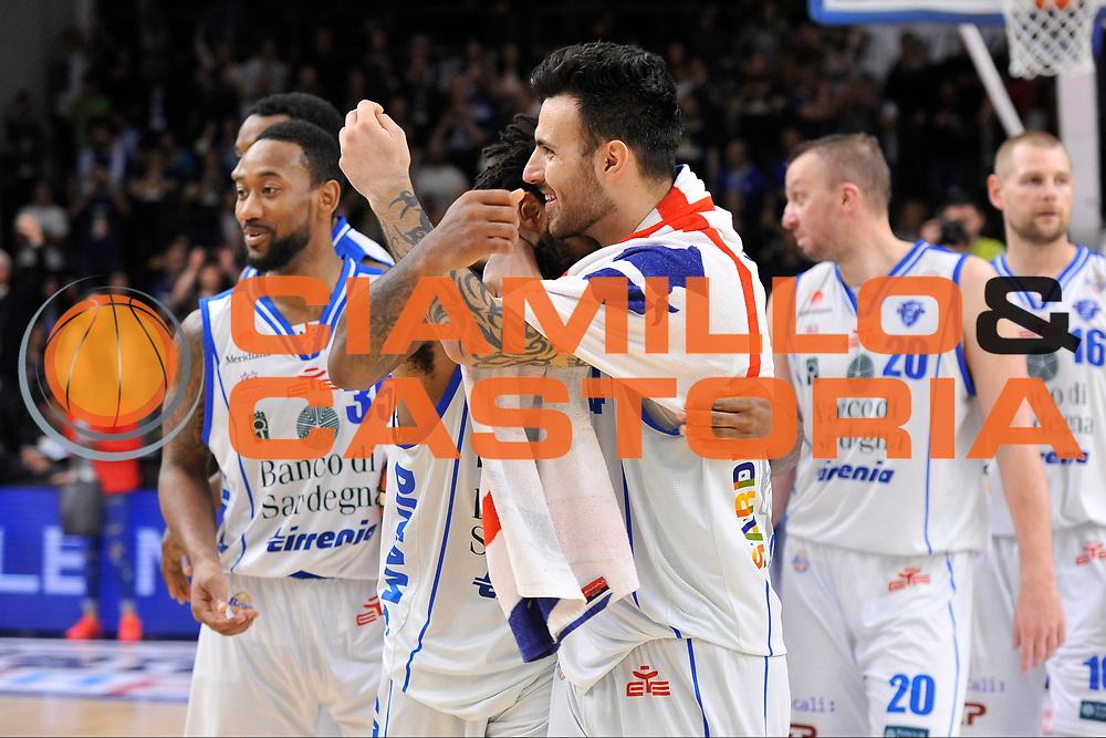 Travor Lacey - Brian Sacchetti<br /> Banco di Sardegna Dinamo Sassari - Enel New Basket Brindisi<br /> LegaBasket Serie A LBA Poste Mobile 2016/2017<br /> Sassari 02/04/2017<br /> Foto Ciamillo-Castoria
