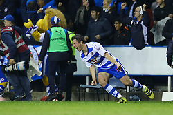 Yann Kermorgant of Reading celebrates as the full time whistle is blown, Reading 1-0 Fulham - Mandatory by-line: Jason Brown/JMP - 16/05/2017 - FOOTBALL - Madejski Stadium - Reading, England - Reading v Fulham - Sky Bet Championship Play-off Semi-Final 2nd Leg