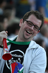 23.06.2010, Olympiapark, Muenchen, GER, FIFA Worldcup, Puplic Viewing Ghana vs Deutschland  im Bild Fan mit wuwusela vor dem Spiel, EXPA Pictures © 2010, PhotoCredit: EXPA/ nph/  Straubmeier