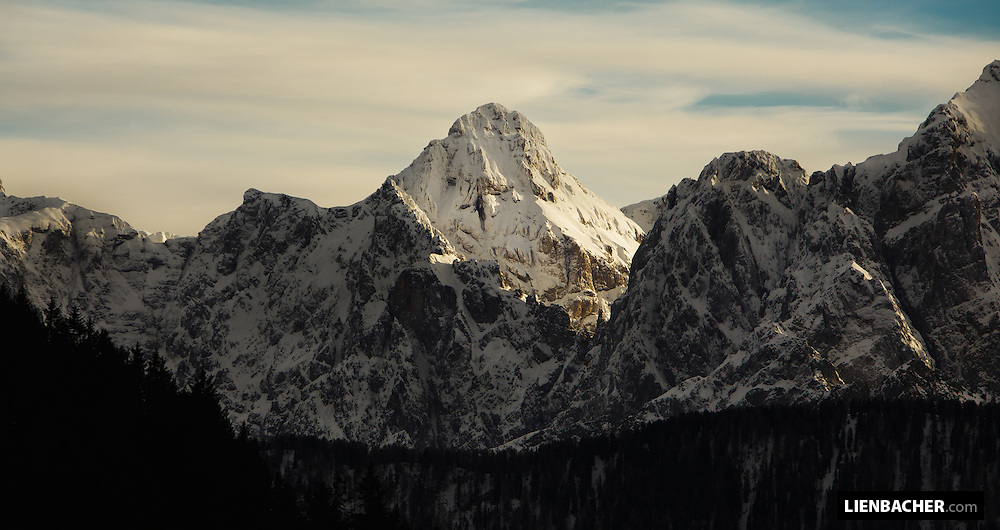 The Mangart in Slovenia, shot from the carynthian side of Austria.