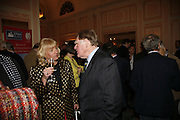CAROL THATCHER AND SIR BERNARD INGHAM. Oldie magazine's Oldie of the Year Awards 2006. Simpson's. the Strand. London.21 March 2006.  ONE TIME USE ONLY - DO NOT ARCHIVE  © Copyright Photograph by Dafydd Jones 66 Stockwell Park Rd. London SW9 0DA Tel 020 7733 0108 www.dafjones.com