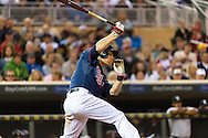 Justin Morneau #33 of the Minnesota Twins bats against the Chicago White Sox on May 13, 2013 at Target Field in Minneapolis, Minnesota.  The Twins defeated the White Sox 10 to 3.  Photo: Ben Krause