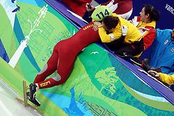 OLYMPISCHE SPIELE: Winterspiele 2010: Vancouver, Short Track, Maenner, 1000m, Vancouver, 20.02.2010,<br /> Jubel von Yang ZHOU (CHN), Gold-Medaille<br /> � pixathlon