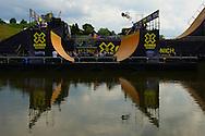 Vince Byron during BMX Vert Practice at the 2013 X Games Munich in Munich, Germany. ©Brett Wilhelm/ESPN