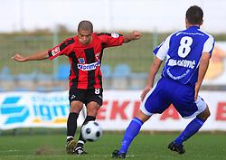 Joao Gabriel Da Silva (8) of Primorje at 12th Round of PrvaLiga Telekom Slovenije between NK Primorje vs NK Nafta Lendava, on October 5, 2008, in Town stadium in Ajdovscina. Nafta won the match 2:1. (Photo by Vid Ponikvar / Sportal Images)