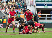 Twickenham, Surrey United Kingdom. Action during the Pool C match, Canada vs New Zealand at the  &quot;2017 HSBC London Rugby Sevens&quot;,  Saturday 20/05/2017 RFU. Twickenham Stadium, England    <br /> <br /> [Mandatory Credit Peter SPURRIER/Intersport Images]