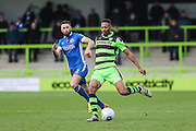 Forest Green Rovers Ethan Pinnock(16) on the ball during the Vanarama National League match between Forest Green Rovers and Macclesfield Town at the New Lawn, Forest Green, United Kingdom on 4 March 2017. Photo by Shane Healey.