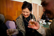 Cognac. Winter nightlife in Naryn, Kyrgyzstan, 2010.