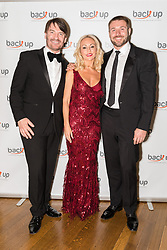 © Licensed to London News Pictures. 04/05/2017. LONDON, UK.  KRISTINA RIHANOFF, her partner, BEN COHEN (R) and ERIC LANLARD (L), celebrity chef attend The City Dinner fundraising event for the charity, 'Back Up Trust' at the Marchant Taylor's Hall. 'Back Up Trust' work to inspire independence in people affected by spinal cord injury and help them get the most from their lives, working with people of all ages, from young children to the elderly.  Photo credit: Vickie Flores/LNP