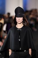 Kati Nescher walks down runway for F2012 Prabal Gurung's collection in Mercedes Benz fashion week in New York on Feb 10, 2012 NYC