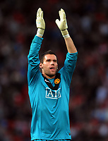 Ben Foster Celebrates Victory after final whistle<br /> Manchester United 2009/10<br /> Manchester United V Arsenal (2-1) 29/08/09<br /> The Premier League<br /> Photo Robin Parker Fotosports International