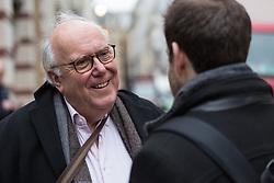Opera administrator Robert, 70, talks with Bild journalist Philip Fabian about Brexit in St James, London. London, January 16 2019.