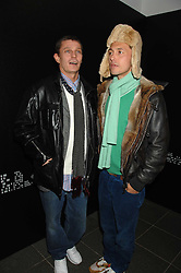 Left to right, LIAM THORNTON and VISCOUNT MACMILLAN at a party to celebrate the launch of DKNY's new fragrance for women Delicious, held at The Serpentine Gallery, Kensington gardens, London on 12th December 2007.<br />