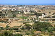 Rural landscape view from Zebbug of Ghasri valley, Gozo, Malta
