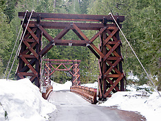 Nisqually River Wooden Suspension Bridge - WA