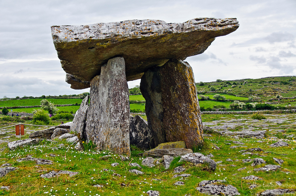 Poulnabrone Dolmen in the Burren area of Co. Clare, Ireland