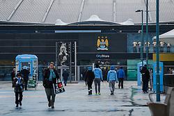 General View outside the stadium abd City Store club shop  - Photo mandatory by-line: Rogan Thomson/JMP - 07966 386802 - 18/01/2015 - SPORT - FOOTBALL - Manchester, England - Etihad Stadium - Manchester City v Arsenal - Barclays Premier League.
