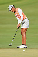 Celine Boutier (FRA) watches her putt on 1 during round 2 of the 2020 ANA Inspiration, Mission Hills C.C., Rancho Mirage, California, USA. 9/11/2020.<br /> Picture: Golffile | Ken Murray<br /> <br /> All photo usage must carry mandatory copyright credit (© Golffile | Ken Murray)