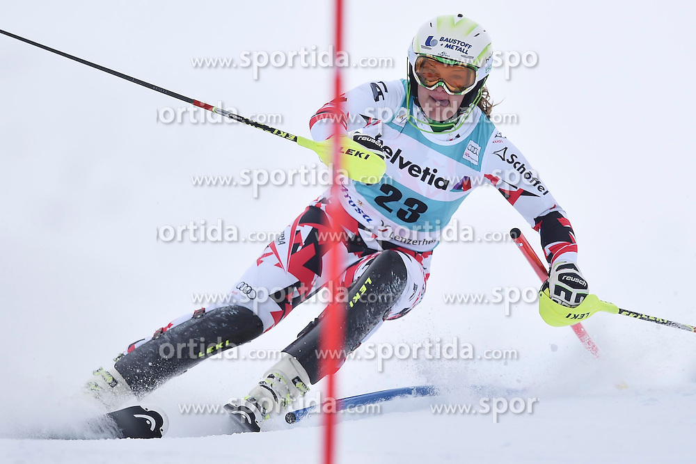 13.03.2016, Pista Silvano Beltrametti, Lenzerheide, SUI, FIS Weltcup Ski Alpin, Lenzerheide, Superkombination, Slalom, Damen, im Bild Ramona Siebenhofer (AUT) // during ladie's Supercombi, Slalom Race of Lenzerheide FIS Ski Alpine World Cup at the Pista Silvano Beltrametti in Lenzerheide, Switzerland on 2016/03/13. EXPA Pictures &copy; 2016, PhotoCredit: EXPA/ Freshfocus/ Manuel Lopez<br /> <br /> *****ATTENTION - for AUT, SLO, CRO, SRB, BIH, MAZ only*****