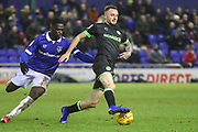 Forest Green Rovers Carl Winchester(7) on the ball during the EFL Sky Bet League 2 match between Oldham Athletic and Forest Green Rovers at Boundary Park, Oldham, England on 12 January 2019.