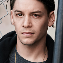 Headshot of actor Shane Spalione by Los Angeles photographer Chris Violette