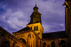 Eglise Saint-Jacques in Reims - floodlit in the evening<br /> <br /> (c) Andrew Wilson | Edinburgh Elite media