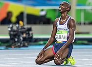 Mo Farah of Great Britain takes Gold to retain his title in the Men's 10,000m on day eight of the XXXI 2016 Olympic Summer Games in Rio de Janeiro, Brazil.<br /> Picture by EXPA Pictures/Focus Images Ltd 07814482222<br /> 13/08/2016<br /> *** UK & IRELAND ONLY ***<br /> <br /> EXPA-GRO-160814-5315.jpg