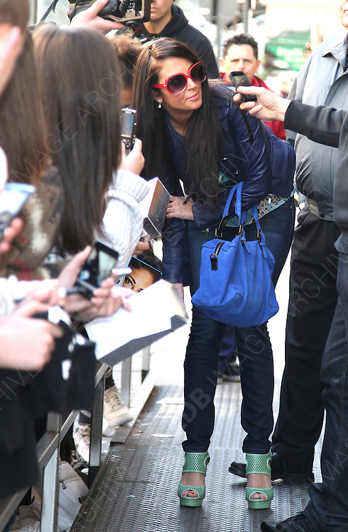 03.APRIL.2012. LONDON<br /> <br /> TULISA CONTOSTAVLOS AT THE BBC RADIO 1 STUDIOS IN LONDON, UK<br /> <br /> BYLINE: EDBIMAGEARCHIVE.COM<br /> <br /> *THIS IMAGE IS STRICTLY FOR UK NEWSPAPERS AND MAGAZINES ONLY*<br /> *FOR WORLD WIDE SALES AND WEB USE PLEASE CONTACT EDBIMAGEARCHIVE - 0208 954 5968*