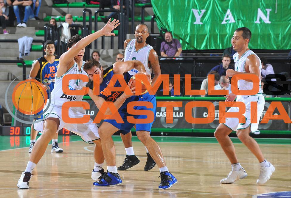 DESCRIZIONE : Treviso Lega A 2010-11 Eurocup Qualifyng Round Benetton Treviso Apoel Nicosia<br /> GIOCATORE : Dimitrios Kalaitzidis<br /> SQUADRA : Benetton Treviso<br /> EVENTO : Campionato Lega A 2010-2011 <br /> GARA : <br /> DATA : 06/10/2010<br /> CATEGORIA : Palleggio<br /> SPORT : Pallacanestro <br /> AUTORE : Agenzia Ciamillo-Castoria/M.Gregolin<br /> Galleria : Lega Basket A 2010-2011 <br /> Fotonotizia : Treviso Lega A 2010-11 Eurocup Qualifyng Round Benetton Treviso Apoel Nicosia<br /> Predefinita :