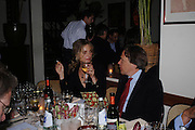 Maryam D'Abo and Lord March. Dinner at San Lorenzo, Beauchamp Place after Tod's hosts Book signing with Dante Ferretti celebrating the launch of 'Ferretti,- The art of production design' by Dante Ferretti. 19 April 2005.  ONE TIME USE ONLY - DO NOT ARCHIVE  © Copyright Photograph by Dafydd Jones 66 Stockwell Park Rd. London SW9 0DA Tel 020 7733 0108 www.dafjones.com