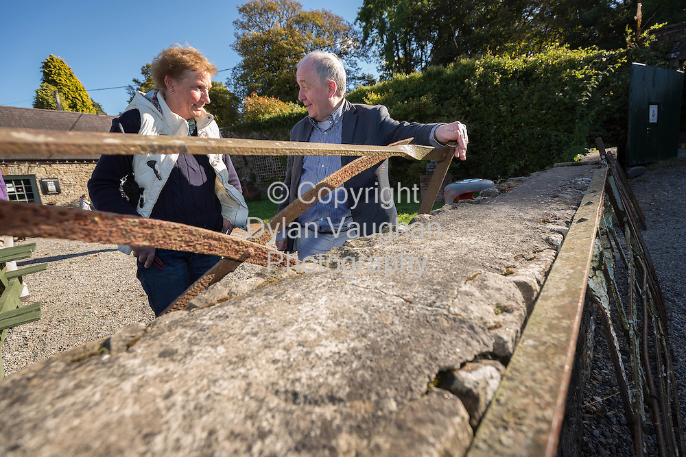 Repro free no charge for repro<br /> <br /> <br /> 12-10-14<br /> <br /> Grace McKevett from Dundalk and Luke Smith from Rathmines Dublin pictured at the launch of &quot;Celebrating Traditional Field Gates&quot;  at Castlecomer Discovery Park, Castlecomer, Co. Kilkenny.<br /> <br /> These traditional field gates are a disappearing part of our farming and landscape heritage. The event will be of interest to landowners, farmers and anyone with an interest in our rural heritage. It will include an exhibition of farm gates; advice on the care and conservation of traditional gates; blacksmithing demonstrations; launch of the booklet &ldquo;The Vernacular Forged Wrought Iron Gate&rdquo;; talks and screening of films. <br /> <br />               This event is co-ordinated by the Heritage Office of Kilkenny County Council and is kindly supported by Teagasc and the Heritage Council. It is an action of the Kilkenny Heritage Plan.<br />  <br /> Picture Dylan Vaughan