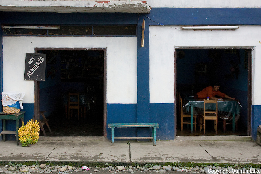A restaurant in Quincemil adjacent to the Interoceanic Highway