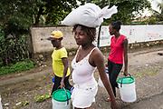 Haïti, Département du Nord. Suite au passage de l'ouragan Irma en septembre 2017, le CECI a distribué 200 kits alimentaires et kits d'hygiène aux familles les plus vulnérables de la commune de Malfety Romeo.