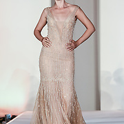 Designer Abed Mahfouz showcases at the London Arabia Art & Fashion Week 2019 at Jumeirah Carlton Tower, on 5 August 2019, London, UK.