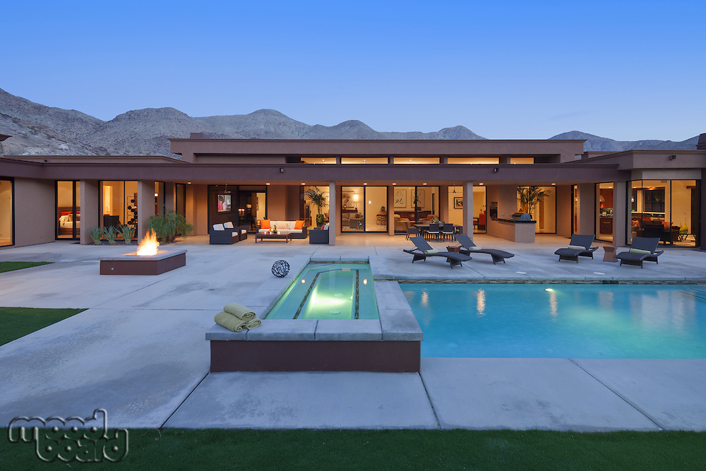 Luxury House Exterior with swimming pool