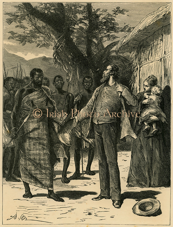 Robert Moffat (1795-1883) Scottish missionary threated by a tribal Chiefn Bechuanaland . Father-in-law of David Livingstone.