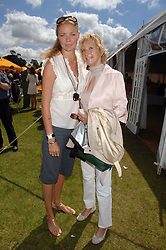 Left to right, JODIE KIDD and her mother WENDY KIDD at the final of the Veuve Clicquot Gold Cup 2007 at Cowdray Park, West Sussex on 22nd July 2007.<br /><br />NON EXCLUSIVE - WORLD RIGHTS